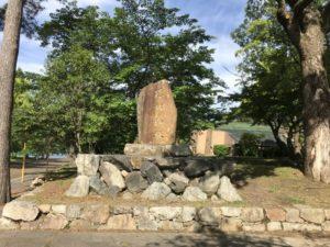 膳所城跡 石碑