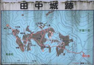 田中城 案内図