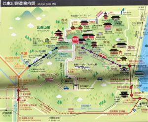 比叡山 回遊案内図