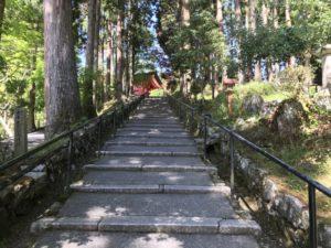 比叡山 大講堂への道