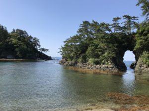高浜城跡と明鏡洞