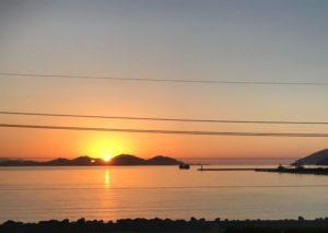 小浜湾 夕陽