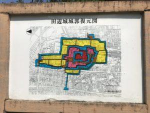 田辺城・城郭復元図