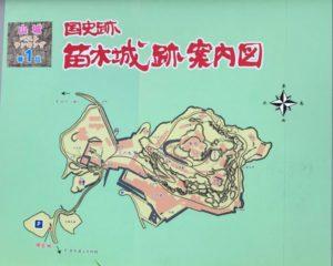 苗木城案内図