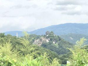 木曽川対岸からの苗木城