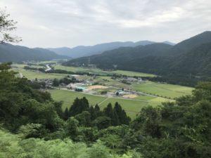 鳥越城からの眺め