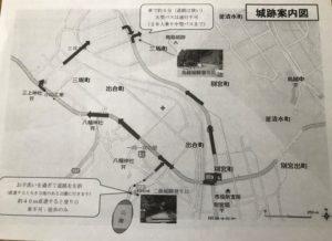 鳥越城 二曲城 案内図