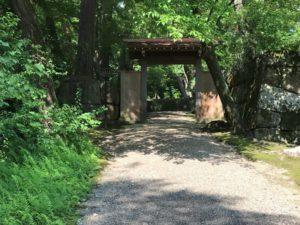 亀山城 本丸への通路