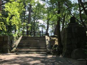 亀山城 城内見学終点地