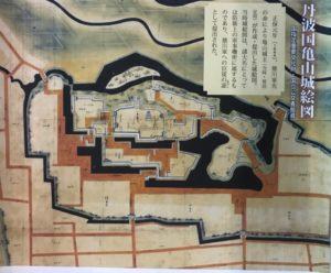 亀山城(丹波国)絵図