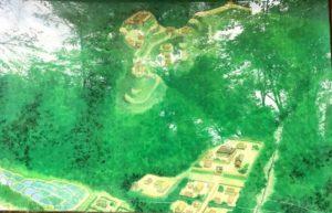 妻木城・士屋敷・家臣屋敷の復元図