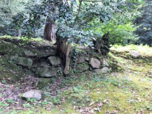 妻木城士屋敷 石垣