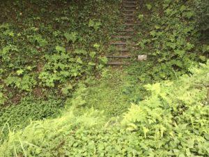 鳥越城 階段