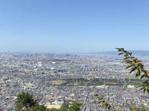 飯盛山城跡からの眺め