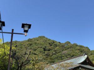 信貫山城跡(遠景)