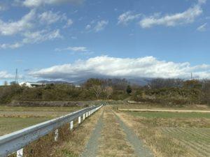 毒島城跡への道