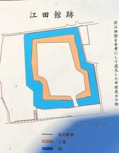 江田館跡の図