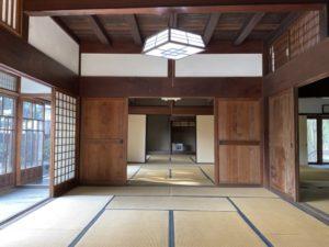渋沢栄一「中の家」主屋の内部