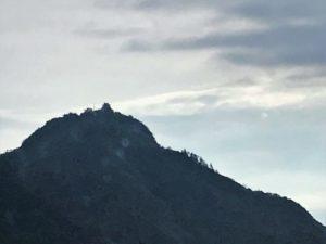 夕方の岐阜(稲葉山)城