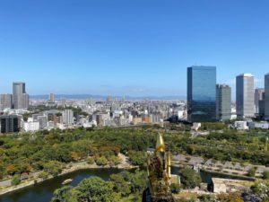 現在の大阪城からの眺め