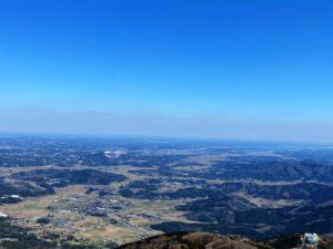 女体山頂からの眺め