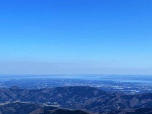 女体山頂からの霞ケ浦