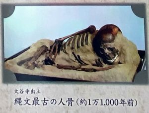 大谷寺出土 縄文最古の人骨