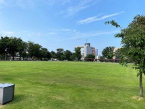 富山城址公園 芝生広場