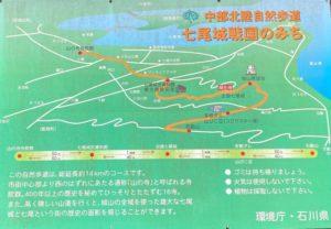 七尾城 戦国のみち 案内図