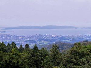 七尾城跡 本丸からの眺め