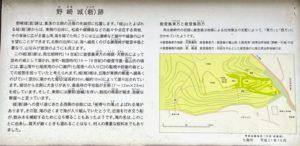 野崎城(砦)跡 説明看板