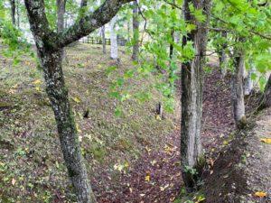 A郭とB郭の間の壕