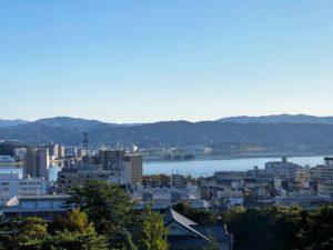 松江城 天守からの宍道湖