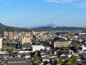 天守から見た松江市街