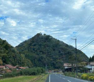 熊野城跡(島根県) 遠景