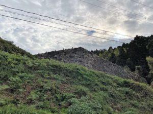 月山富田城の石垣