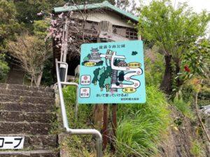 小山城への道