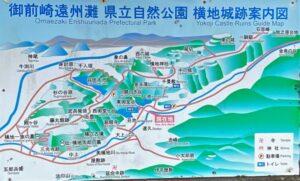 横地城跡 案内図