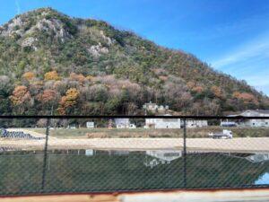 新高山城 断崖絶壁