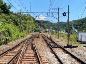 函南駅と東海道本線の線路