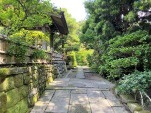 寿福寺 門の横