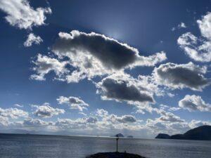 周防大島 海と雲と光