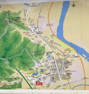 平泉町 案内地図