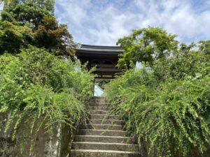 海蔵寺 山門の前