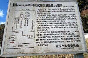 周防源氏武田氏屋敷跡内 案内図
