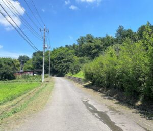 三門館へ続く道