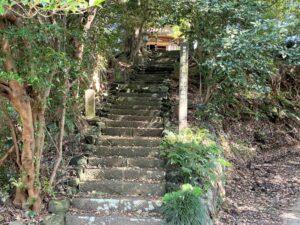 文三堂への階段